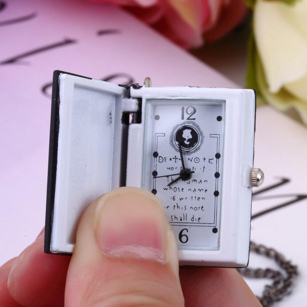 1pc Worldiwde Vintage Unique Death Note Book Quartz Pocket Watch Pendant Necklace Gift Hot Popular R