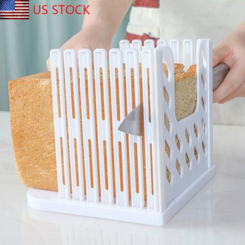 Pro cortadora de pan de molde de corte guía de corte hogaza tostada herramienta de cocina