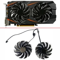 new 2pcs 87mm t129215su pld09210s12hh rx580 gpu fan for gigabyte gtx 1050 1060 1070 960 rx 470 480 570 580 graphics card cooler