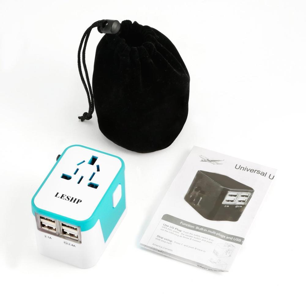 110-250V 3AC 4 puertos USB cargador de viaje Universal de viaje adaptador/cargador de pared de enchufe UE de los EEUU Reino Unido cargador de teléfono inteligente