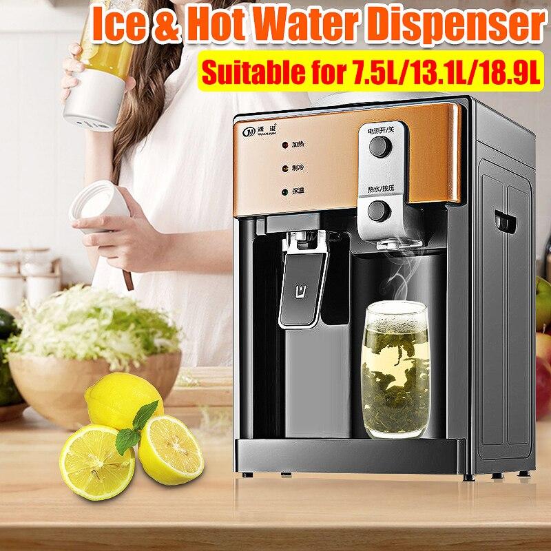 220V 550W Elektrische Wasser Dispenser Desktop Kalten Heißer Eis Wasser Kühler Heizung Trinken Brunnen für Home Office tee-Bar