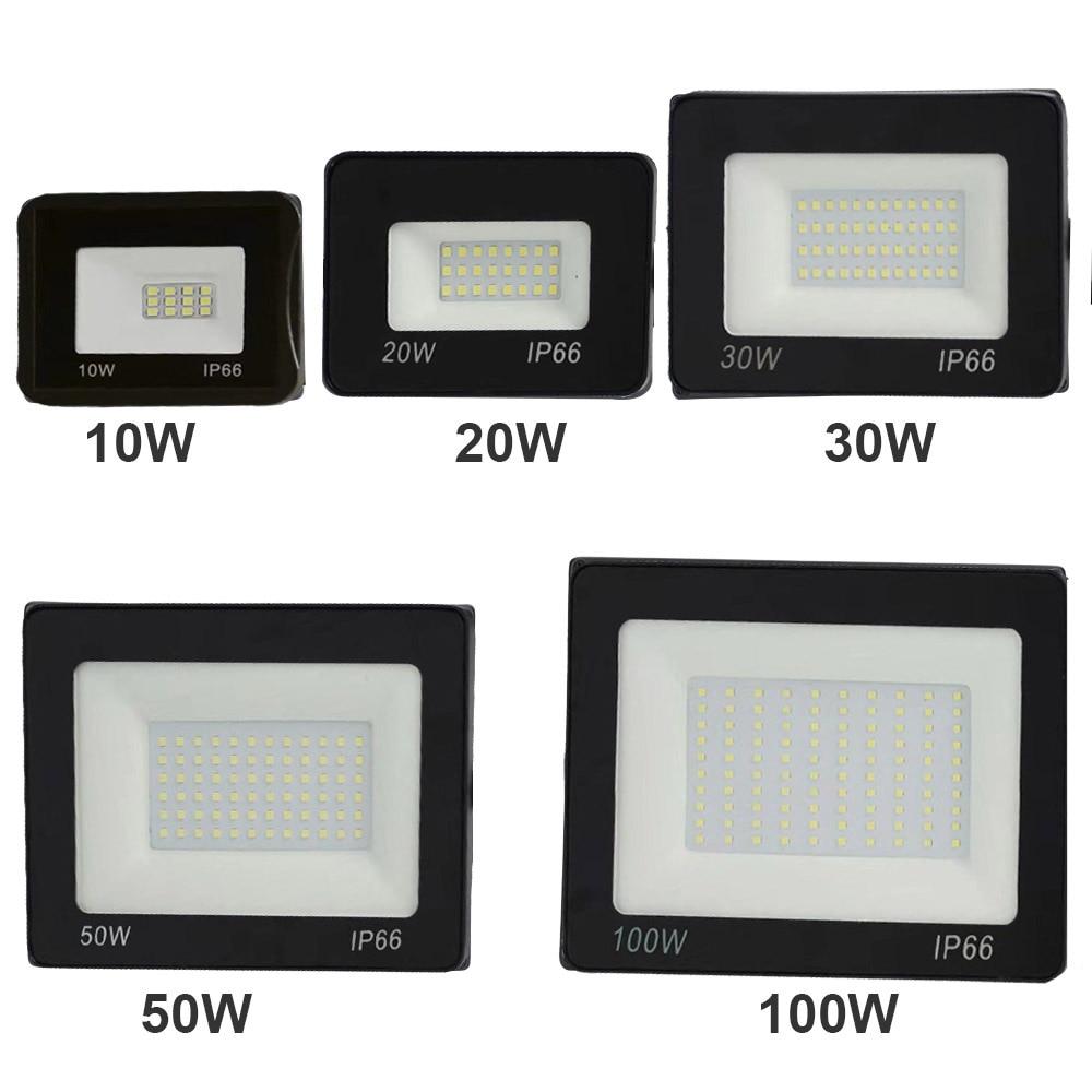 Luz de inundación Led 220V Reflector al aire libre 10W 20W 30W 50W 100W 150W lámpara de pared Reflector IP66 iluminación de jardín impermeable