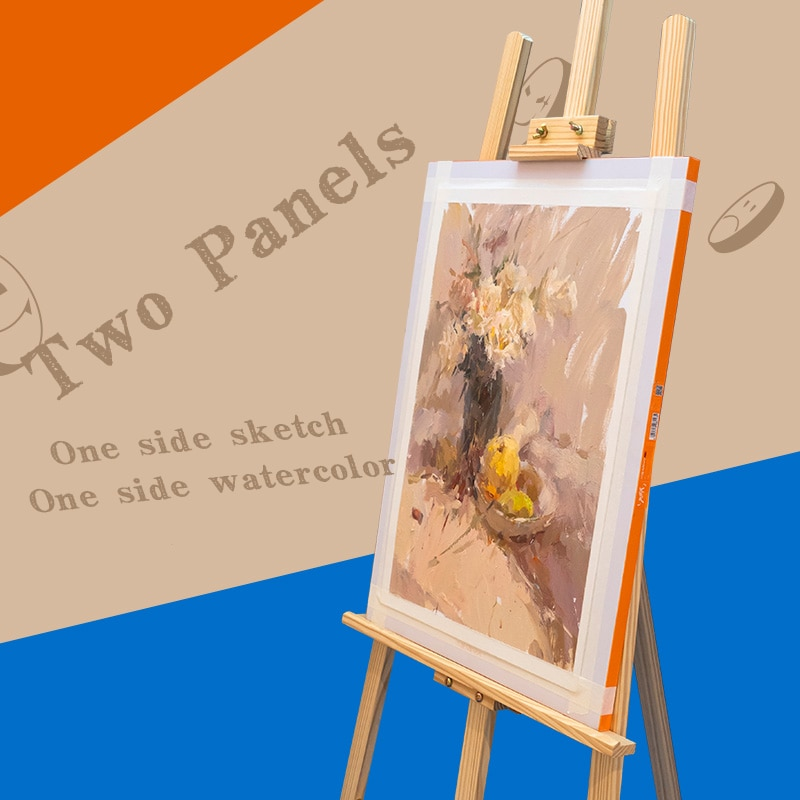 HIMI Double Used Sketch Easel Wooden Board Artist Tabletop Drawing Board Stand Easel For Watercolor Oil Painting Art Supplies enlarge