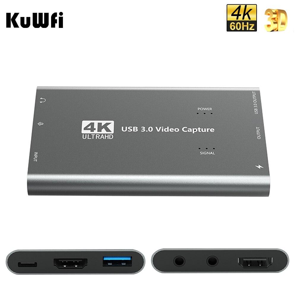Tarjeta de captura KuWFi 1080p 60fps para transmisión en vivo HDMI a...