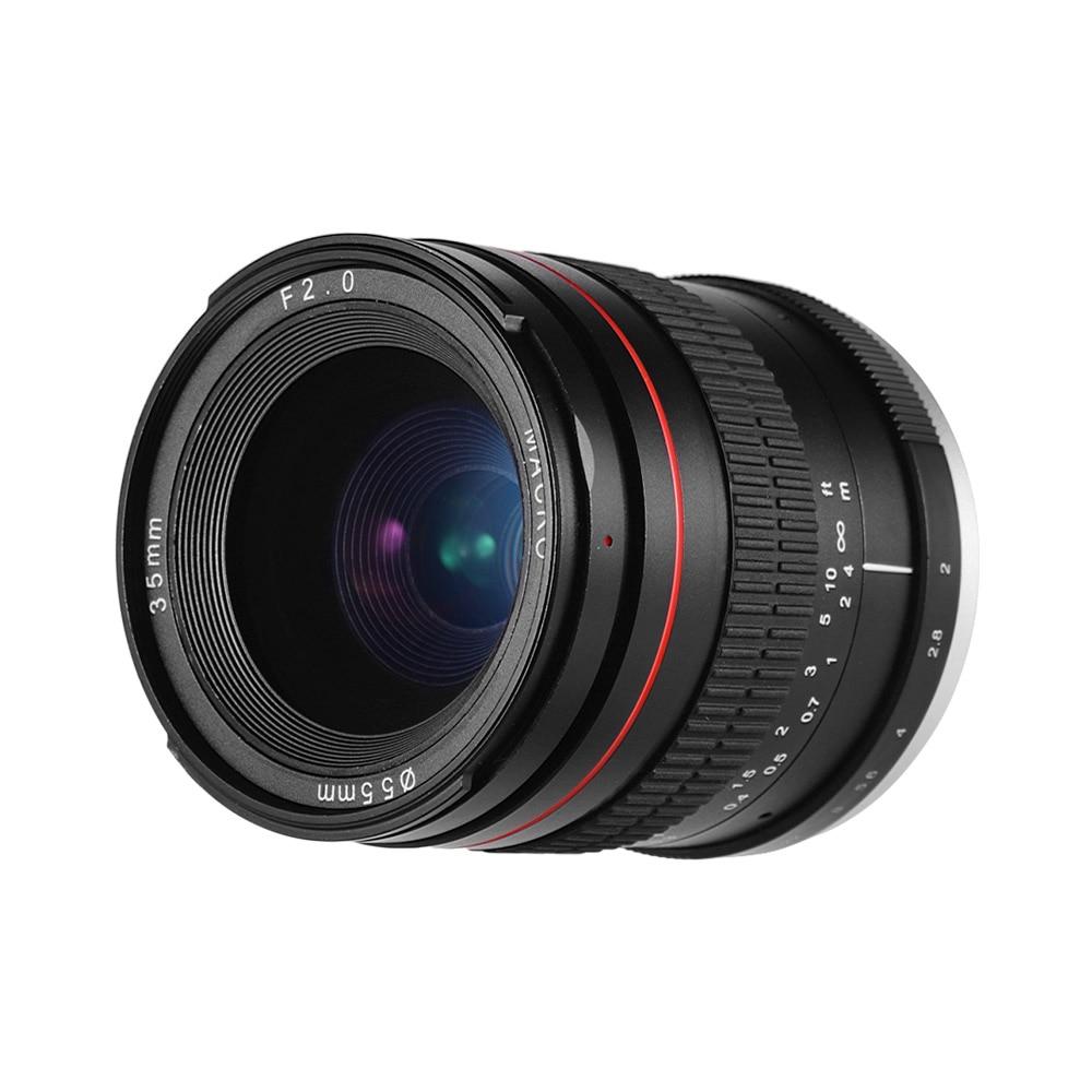 Lente principal de enfoque Manual de 35mm F2.0, lente SLR de Baja dispersión para Canon montura EF 100D 200D 350D 450D