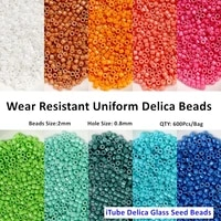2mm miyuki delica glass japanese beads opaque solid waist seed beads charm for jewelry making necklace diy supplies accessories