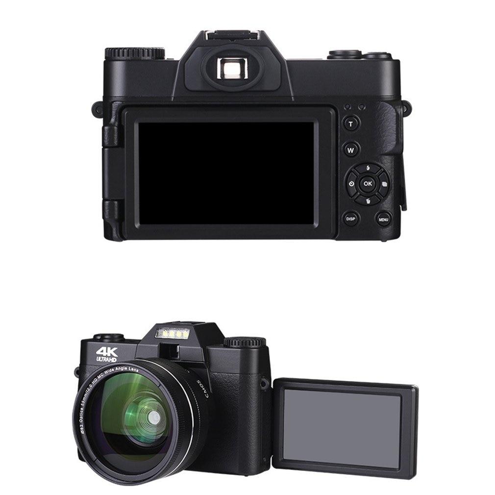 2021 4K HD 16X Digital Camera Micro Single Retro With WiFi Professional wide angle Digital Camera Vlog External Lens Time-lapse