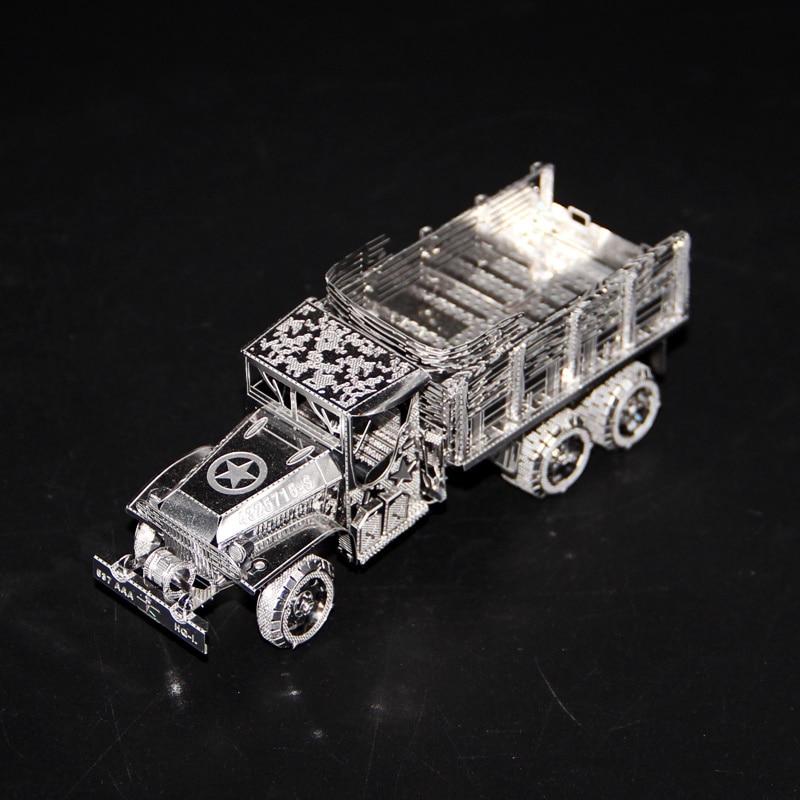Rompecabezas 3D de metal GMC 2,5 T 6x6, minicamión de camión, juegos...