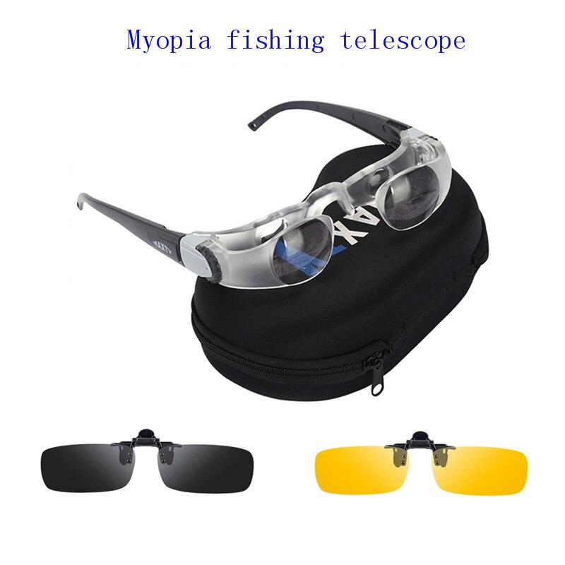 Óculos de sol de pesca telescópio hd assista à deriva óculos de pesca telescópio especial zoom fechar presbiopia miopia pode usar