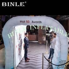 Offre spéciale mini entrée gonflable de tunnel avec la couverture gonflable de toit de dôme dair de tente de tunnel de lumières de led pour lévénement/salon commercial