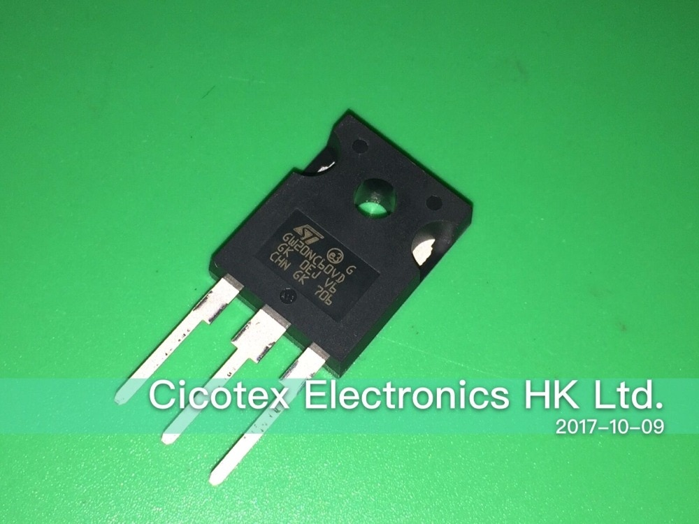 3 шт./лот STGW20NC60VD с изолированным затвором (IGBT) 600 V 20A 200 W TO247 GW20NC60VD