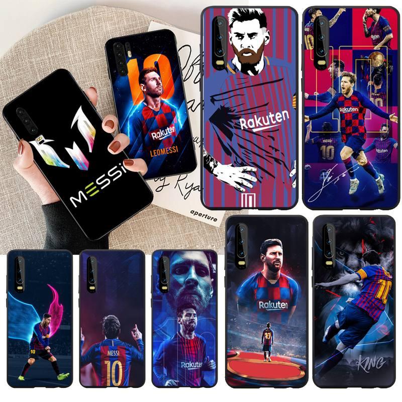 NBDRUICAI Messi athlete Black Soft Shell Phone Case Capa for Huawei P30 P20 Mate 20 Pro Lite Smart Y9 prime 2019