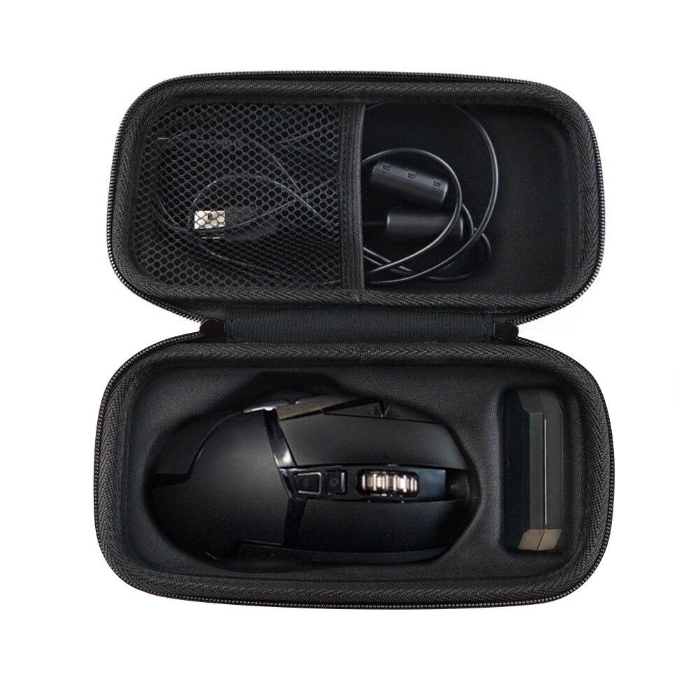 Cubierta/bolsa de almacenamiento a prueba de golpes organizador antiarañazos portátil con cremallera y ratón accesorios EVA resistente al agua para Logitech G502