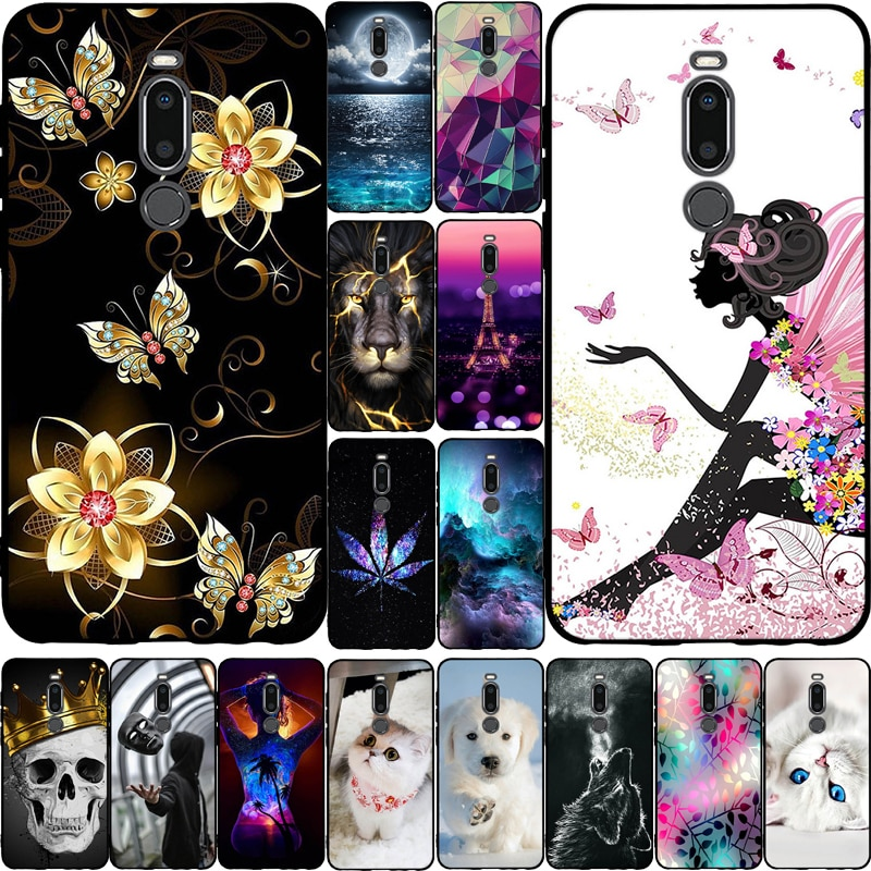 Funda de silicona para Meizu M8 caso de dibujos animados flor patrón impreso suave TPU Protector para Meizu V8 Pro parachoques del teléfono
