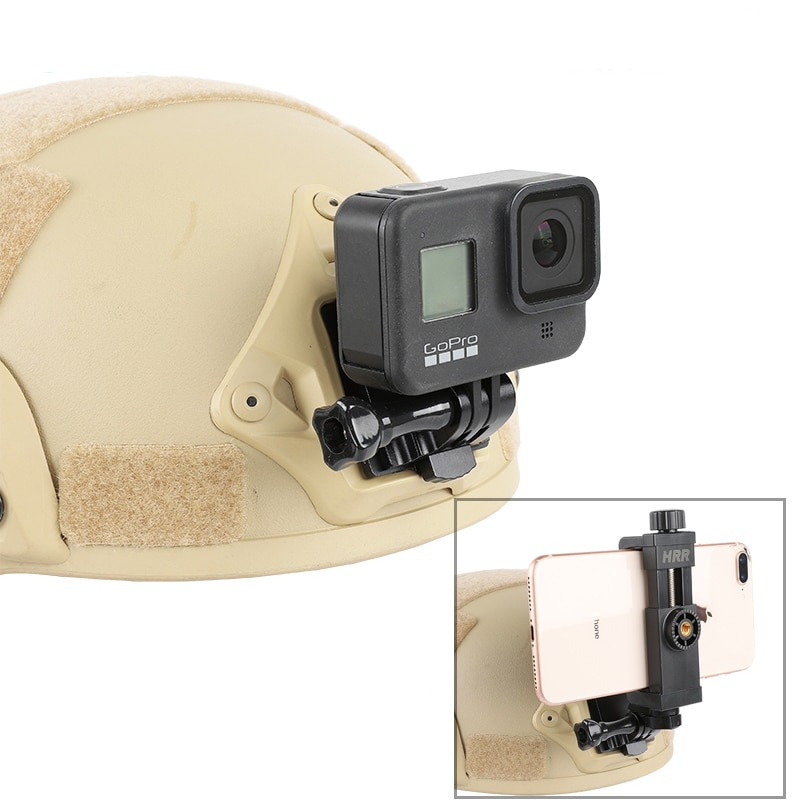 NVG Tactical helmet mount bsae for GoPro9 SJCAM AKASO DJI Action Camera first-person view Mobile phone Holder shooting Accessory