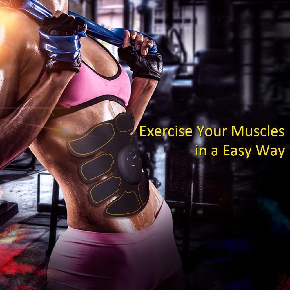 Körper Gebäude Fitness Muscle Stimulator Bauch Exerciser Gerät Bauch Muskel Trainer Körper Abnehmen Fett Brennen Exerciser