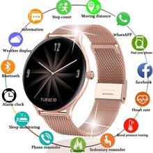 2021 New Full circle touch screen Women smart watch Luxury steel Watch Band Fashion smartwatch Sport