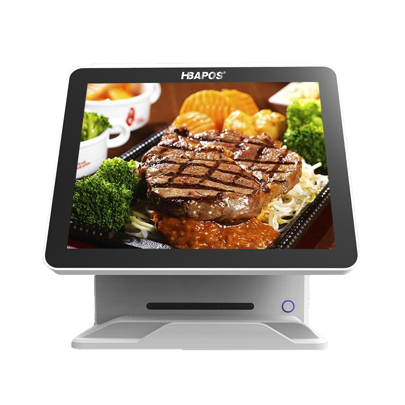 Pos terminal 15 inch lcd monitor dual screen pos cash register touch all in one pc pos machine for restaurant and retail indust enlarge