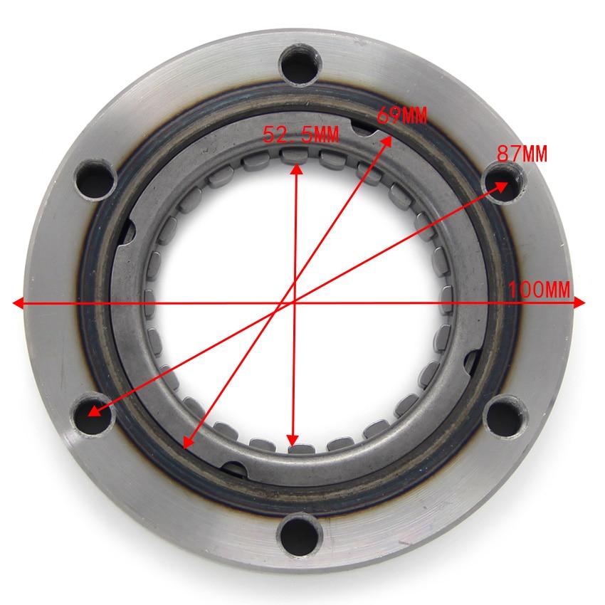 Embrague de arranque de motocicleta, rodamiento unidireccional para SUZUKI AN400 Burgman 400 K3 K6 X K2 DR250SE 12600-15810 12600-15822 12600-15824