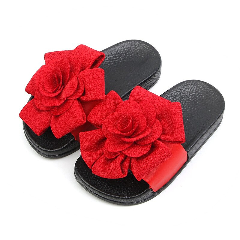 AliExpress - Floral Girls Slippers Summer Pvc Light Soft Sole Non-Slip Wearable Flowers Kids Slippers for Girls Outdoor Fashion Pretty 2-8 T