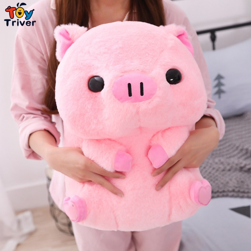 Кавайная розовая свинка, плюшевые игрушки, трехцветные мягкие игрушки-животные, кукла для малышей, мальчиков и девочек, детские игрушки, нап...