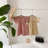 2021 new girl summer floral dress korean style childrens dresses kids toddler girls clothes sweet cute cotton clothing age 1 6