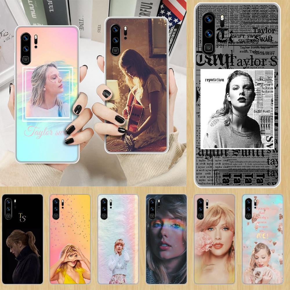 Чехол для телефона Singer Swift-Taylor, корпус для HUAWEI p 8 9 10 20 30 40 smart Lite 2017 19 Pro Z, прозрачный мягкий чехол из ТПУ prime