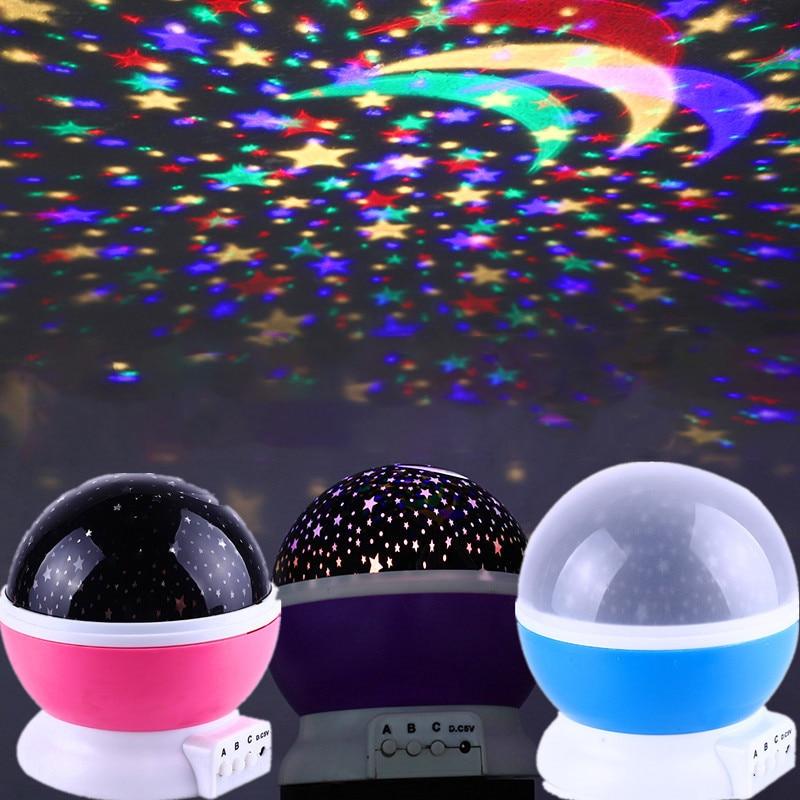Milky Way Projection Fantasy Starry Sky Rotating LED Night Light Planetarium Children's Bedroom Star Moon Light Christmas Gift