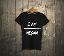 I am NEGAN T-shirt 100% Cotton UNISEX T-shirt The Walking Dead NEGAN Tee NEW  Comfortable t shirtCasual Short Sleeve TEE