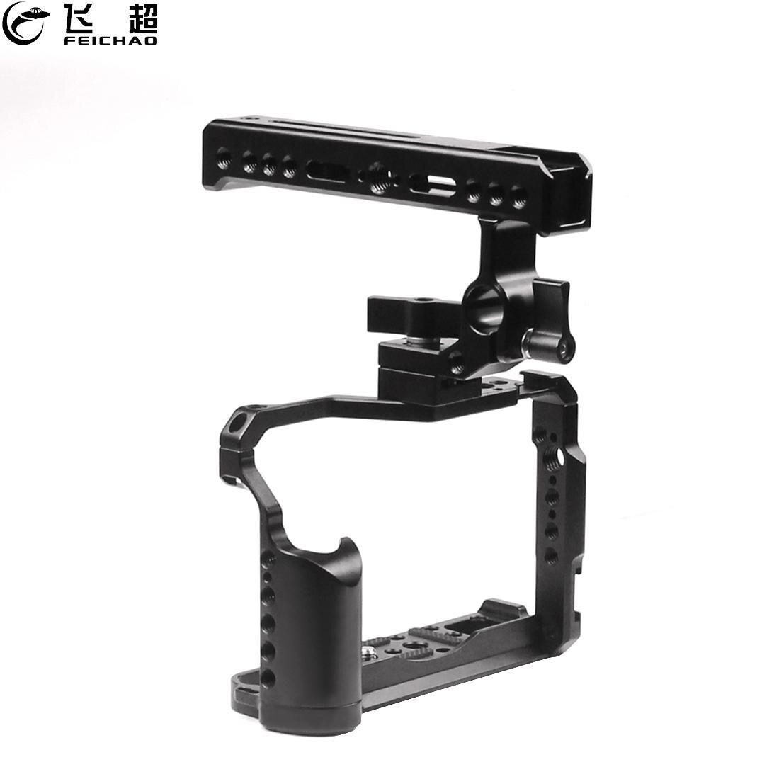 XT20 XT30 هيكل قفصي الشكل للكاميرا تلاعب 1/4 3/8 الإطار واقية مقبض علوي قبضة 15 مللي متر السكك الحديدية الحذاء الساخن جبل ل Fujifilm XT-20 استقرار XT-30