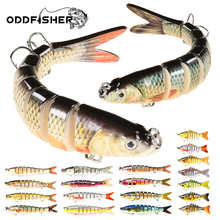 Oddfisher 10/14cm Fishing Lure Jointed Sinking Wobbler For Pike Swimbait Crankbait Trout Bass Fishing Accessories Tackle Bait