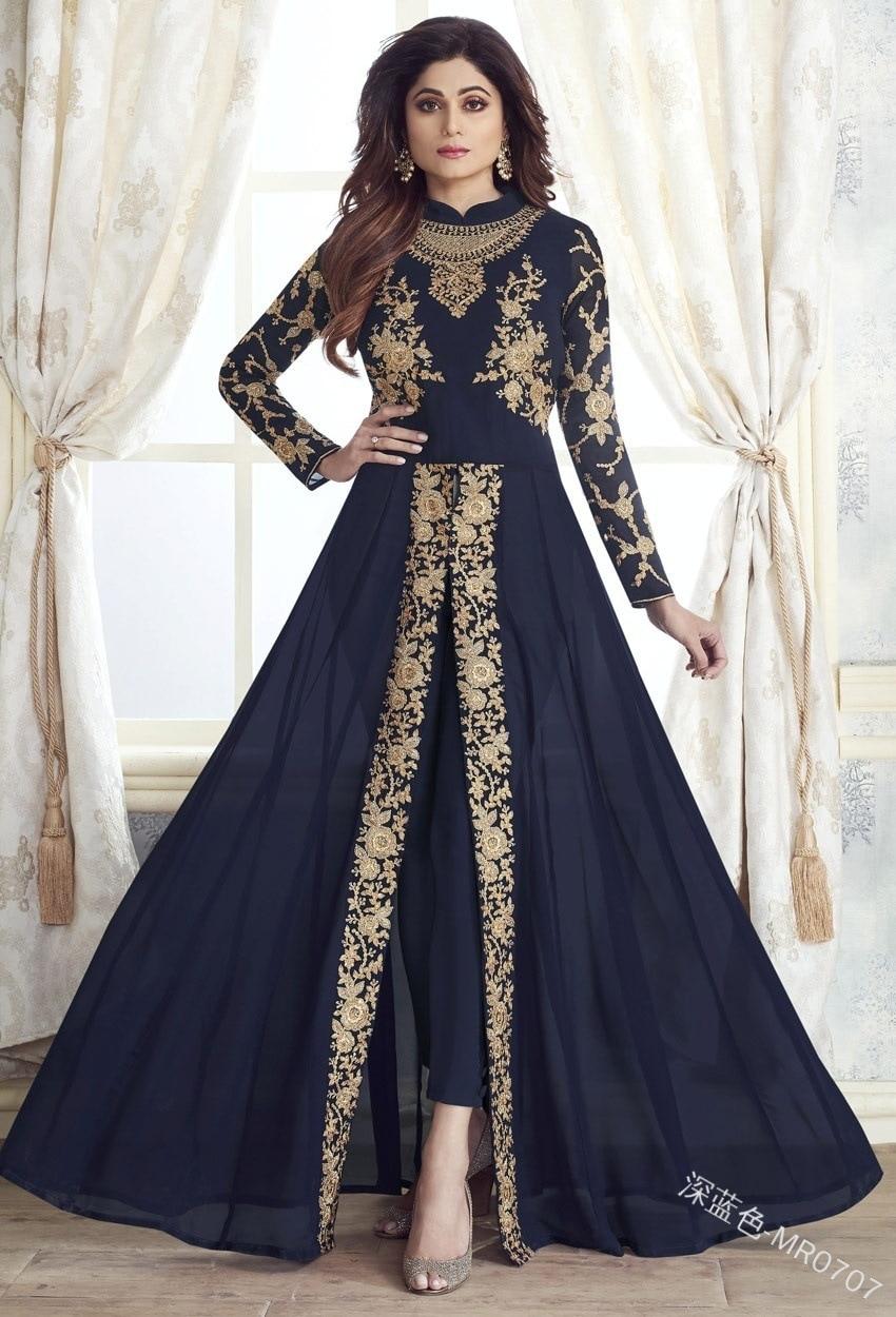 WEPBEL قطعتين جديد ريترو نوبل فستان حفلة أنيقة طويلة الأكمام المرقعة البرنز الشيفون سوينغ كبير حجم كبير فستان المرأة