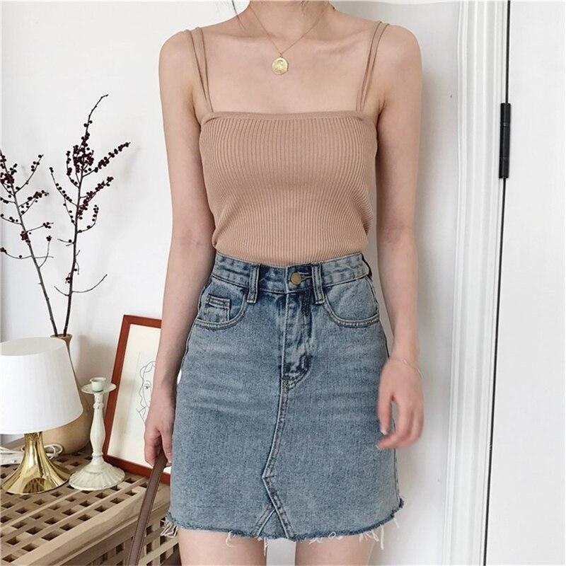 Hbfa969540a034412a21b5572dc217b1ck - Summer Korean Sleeveless Basic Solid Camisole