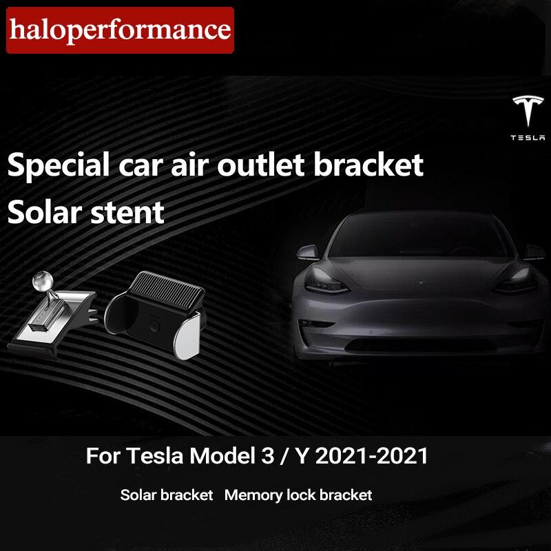 NEW Car Phone Solar Holder For Tesla Model 3 2021 Accessories Gravity Solar Memory Lock bracket Model Three Y 2020