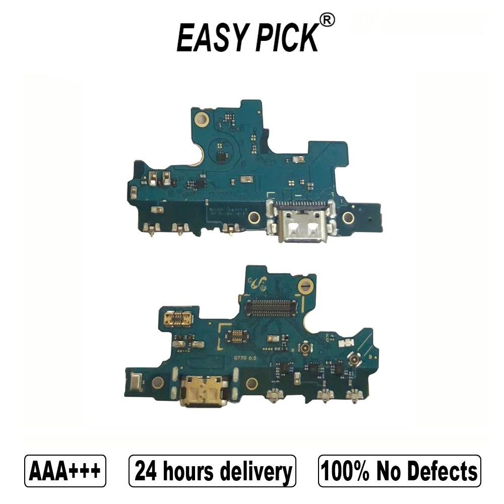 Para Samsung Galaxy S10 Lite G770F/DS G770F/DSM puerto de carga USB del muelle del cargador conector de micrófono Flex Cable