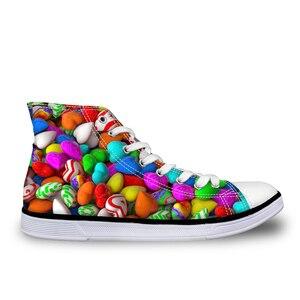 HaoYun Women's High-Top Canvas Shoes Sweet Love Girls Vulcanized Shoes Light-weight Female Walking Shoes Casual Sneaker Shoes