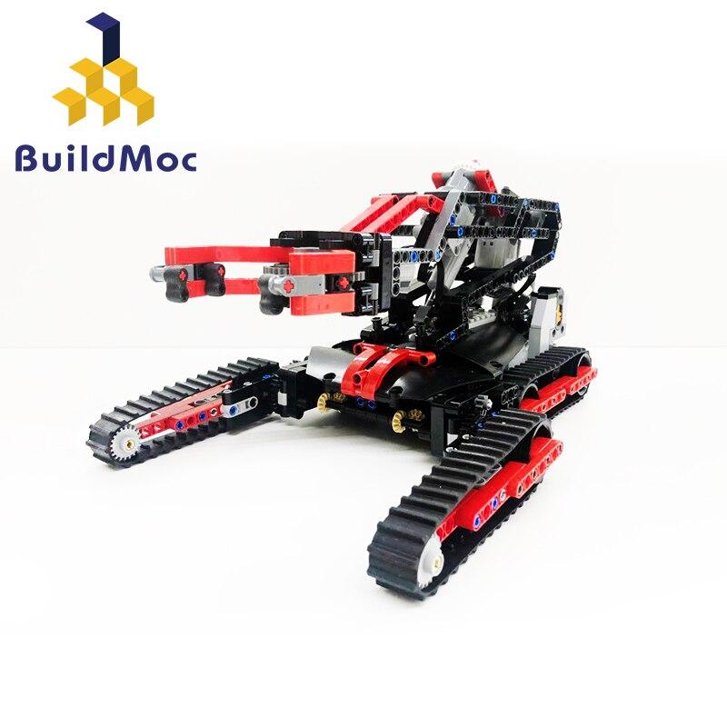 BuildMoc Robot Arm Kit Educational Robotics 33676 Robot M3 M6 Claw Set Mechanical Arm set fit Technic Building Blocks Toys gift