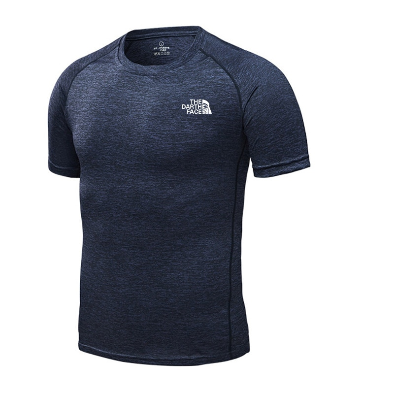 Brand T-shirt Summer man's Sports Short-Sleeved Fast Drying Training Breathable Compression Jogging Tights Fitness muscle men XL