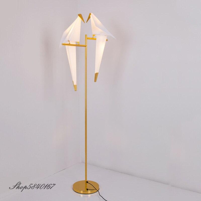 Lámpara de pájaro nórdico, luz Led de suelo, lámparas de pie de diseñador para arte de sala de estar, lámparas decorativas para dormitorio, lámpara de pie moderna
