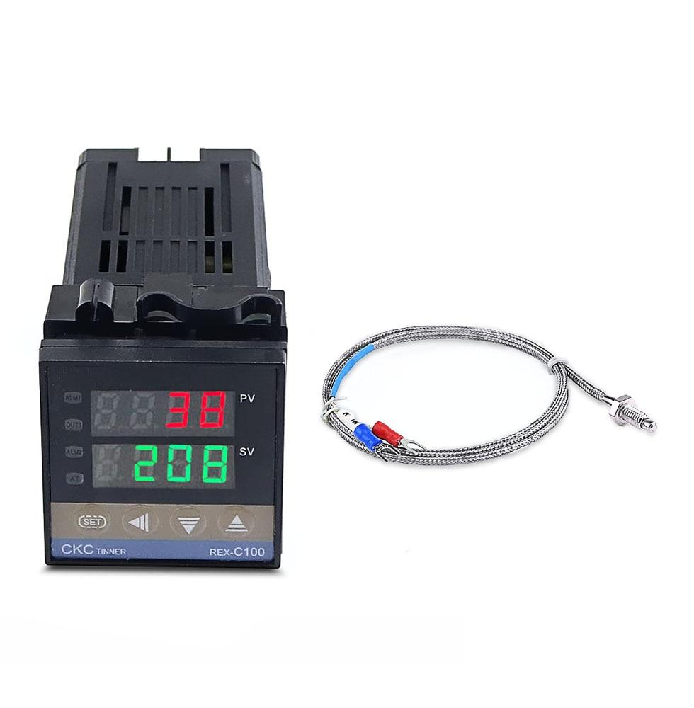 REX-C100FK02-V * DA контроллер температуры на солнечной батарее реле температуры Выход SSR 0 ~ 400 с 1 м термопары K SSR выход
