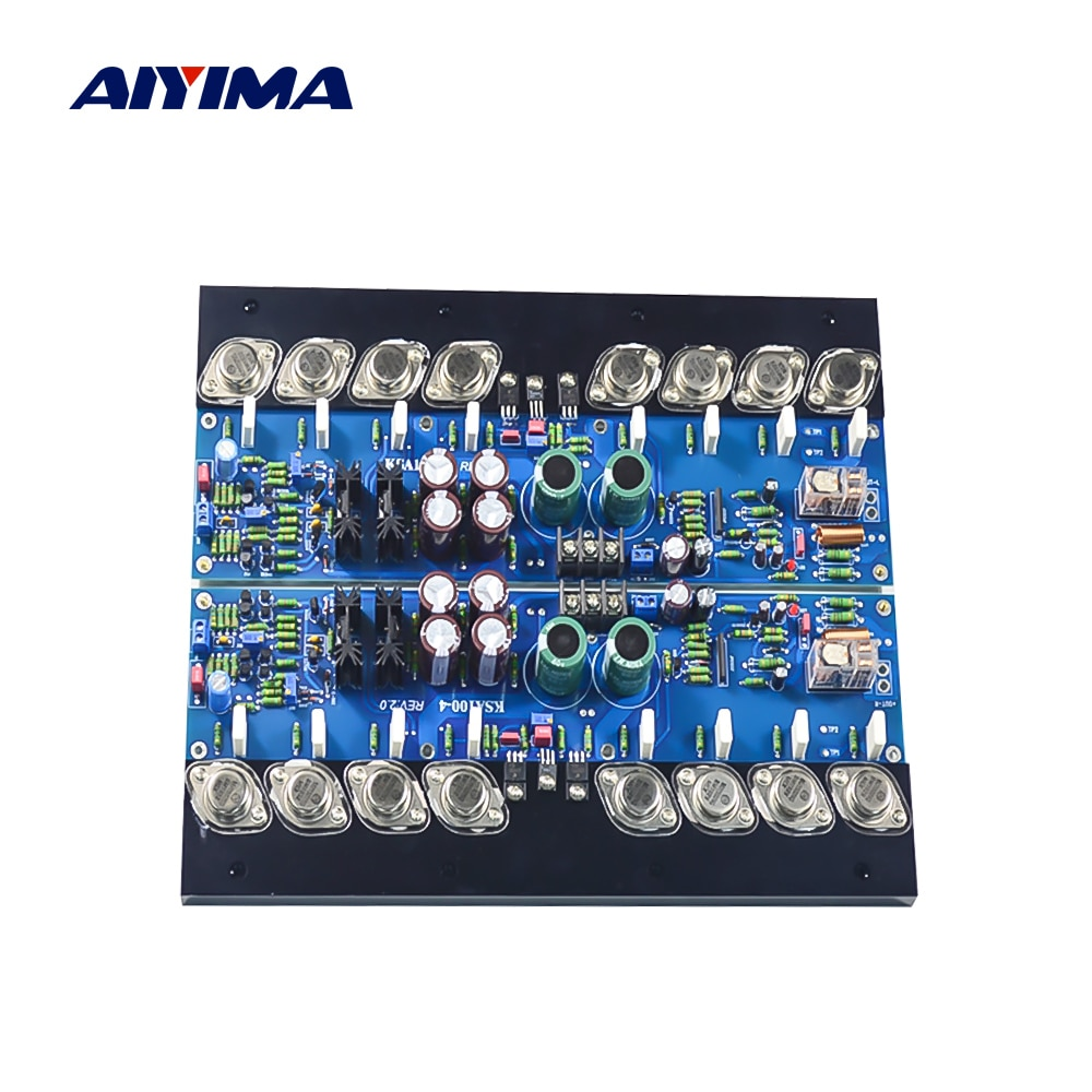 Aiyima 1 par ksa100 tubo amplificador placa de áudio 300 w ouro-selado em 15024 15025 potência amplificadores de alta fidelidade classe a amplificador