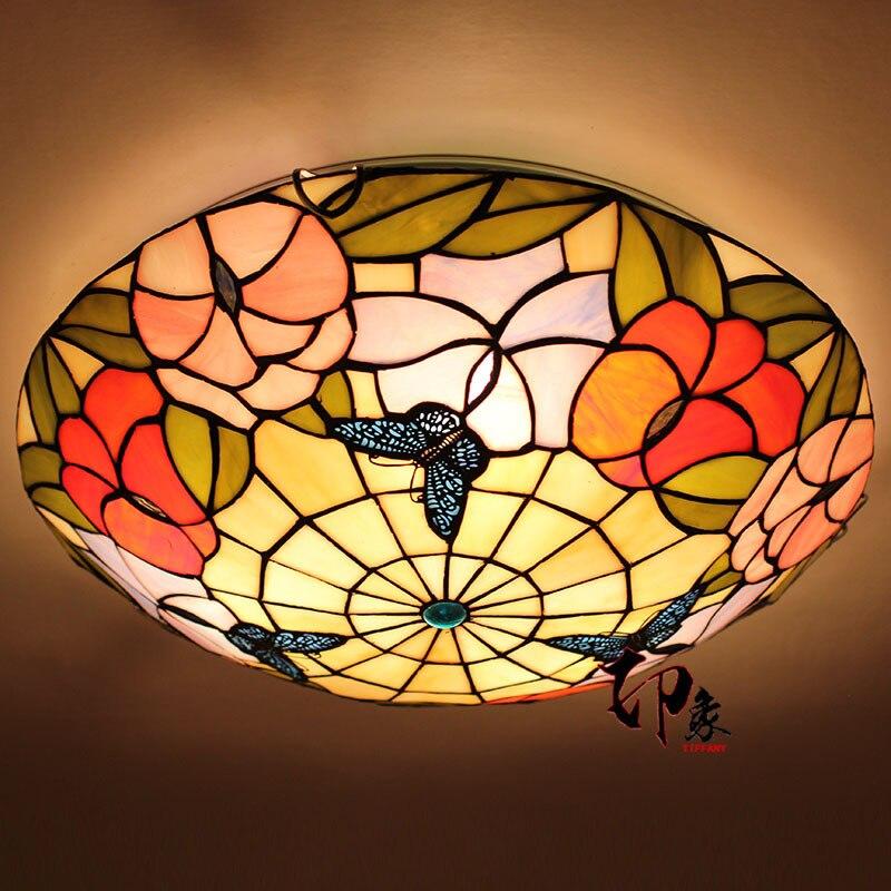 Lámpara de techo con forma de mariposa europea, luz LED de 16...