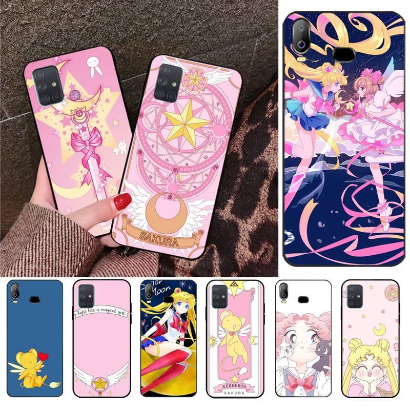 Sakura Card Captor CUTEWANAN Sailor Moon Caixa Do Telefone Para Samsung Galaxy A01 A11 A31 A81 A10 A20 A30 A40 A50 A70 A80 A71 A91 A51
