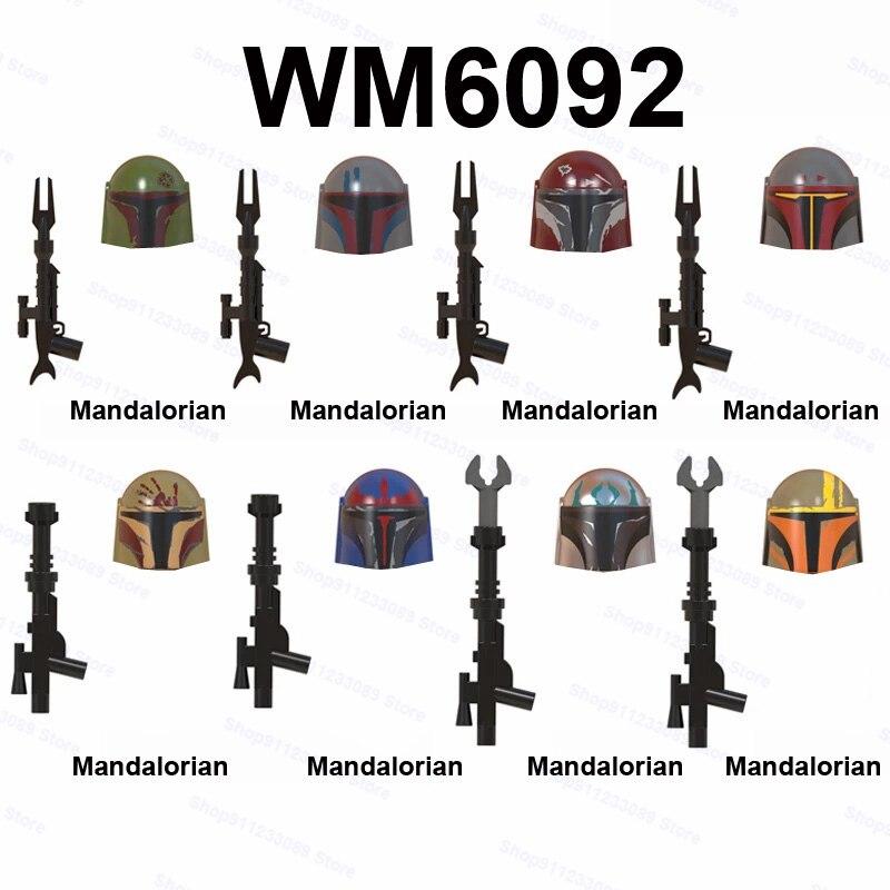 8 шт./компл. WM6092 строительные блоки кирпичи Звездные модели Фигурки войны игрушки Детский подарок