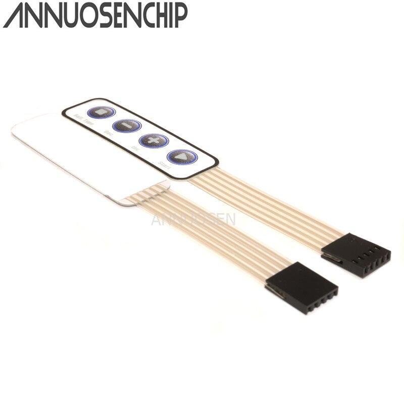 Blanco nuevo Mini interruptor de membrana de 4 Teclas de superficie interruptor de Monitor teclado de matriz teclado de membrana control de superficies