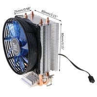 p82f cpu cooler master 2 pure copper heat pipes fan with blue light cooling system with pwm fans