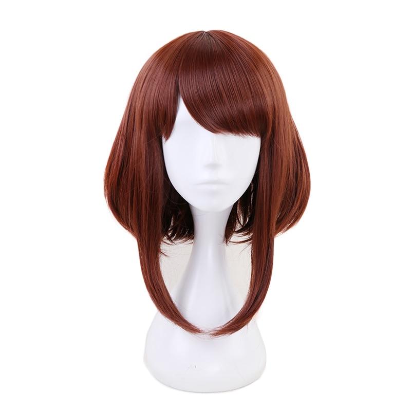 My Hero Academia OCHACO URARAKA Ochako Women Brown Short Wig Cosplay Costume Boku no Hero Academia Heat Resistant Hair Wigs