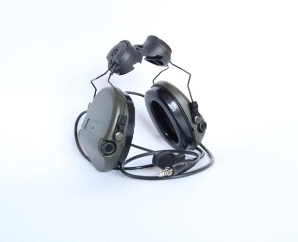 Tactical SORDIN Helmet Fast Track Bracket Silicone Earmuffs Noise Reduction Headphones-FG