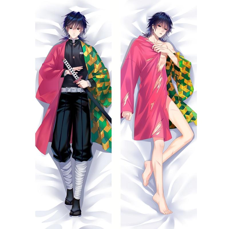 Японское аниме дакимакура демон Slayer Kimetsu no Yaiba обнимает тело наволочка Tomioka Giyuu мужской Otaku костюм чехол BL подарок