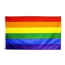 Drapeau arc-en-ciel fierté Gay   LGBTQ banderole, drapeaux pour fête défilé, décorations de Festival arc-en-ciel Lt